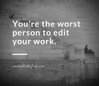 Editing Myth #2: I can edit my own work