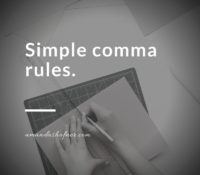 Simple Comma Rules 3-4