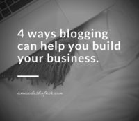 4 Answers to Why Blog?