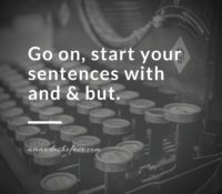 Start Your Sentences with And & But