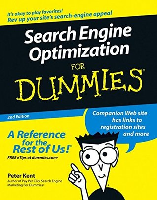 Search Engine Optimization for Dummies book cover