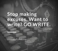 What Are Your Writing Excuses?