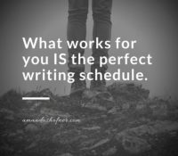 What's a good writing schedule?