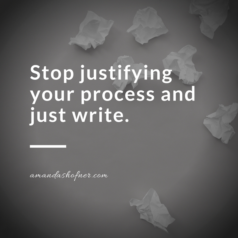 justify-writing-process